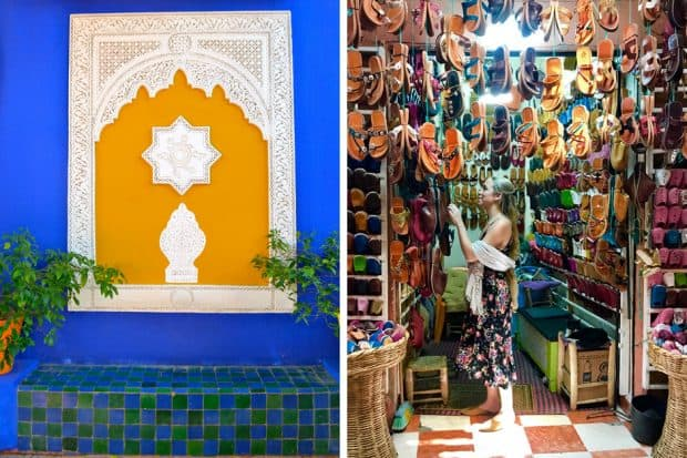 The gorgeous Jardin Majorelle; exploring the souk