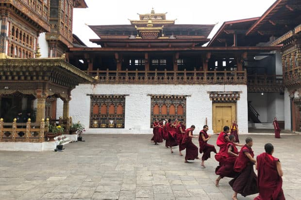 Youthful-monks-prepare-for-an-upcoming-Festival-in-the-Gangtey-Valley