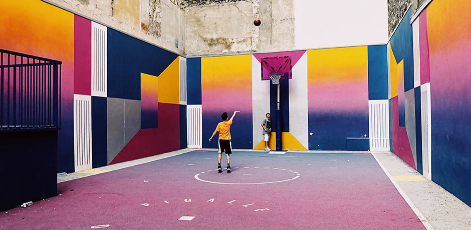 """In Paris, we knew we wanted to visit the colorfully-designed Pigalle basketball court. My boys love basketball and this court was simply amazing."" ~ Indagare member Josh Welch"