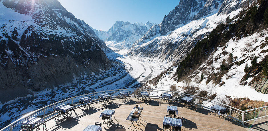 Views at Terminel Neige Refuge in Chamonix, France, photo by Sophie Molesti & David Andre.