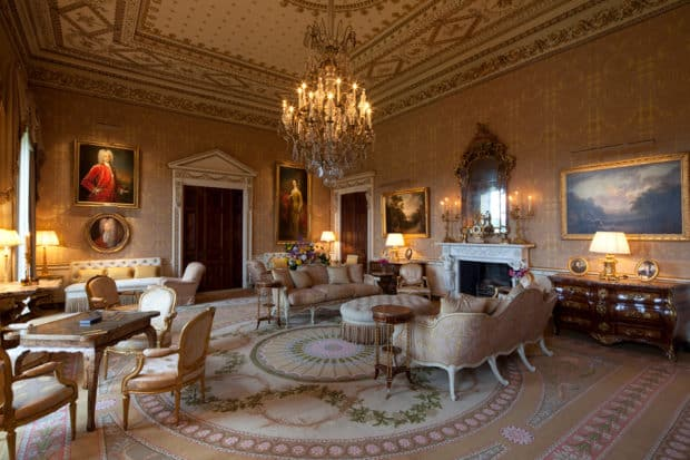 The sumptuous Gold Room at Ballyfin in County Laois, Ireland, is perfect for an afternoon cup of tea (or Champagne) and a good book.