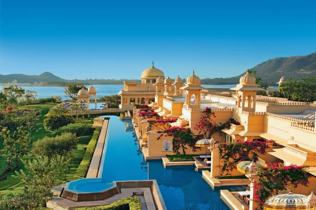 The palatial Oberoi Udaivilas in Udaipur, India
