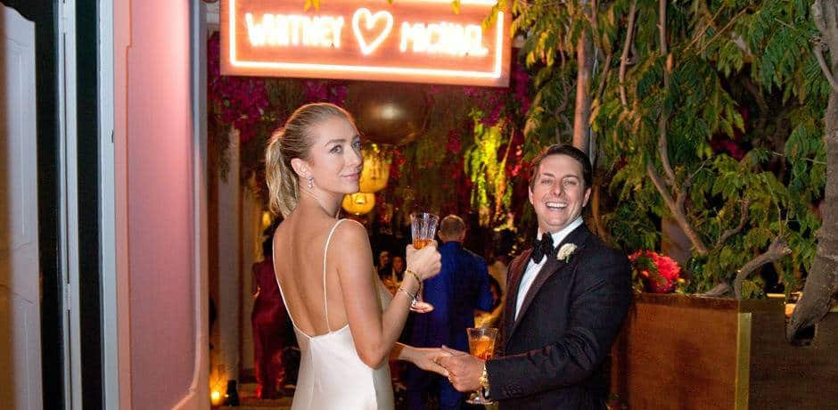 Whitney Wolfe Herd and Michael Herd at their wedding in Positano. Courtesy Aaron Delesie.