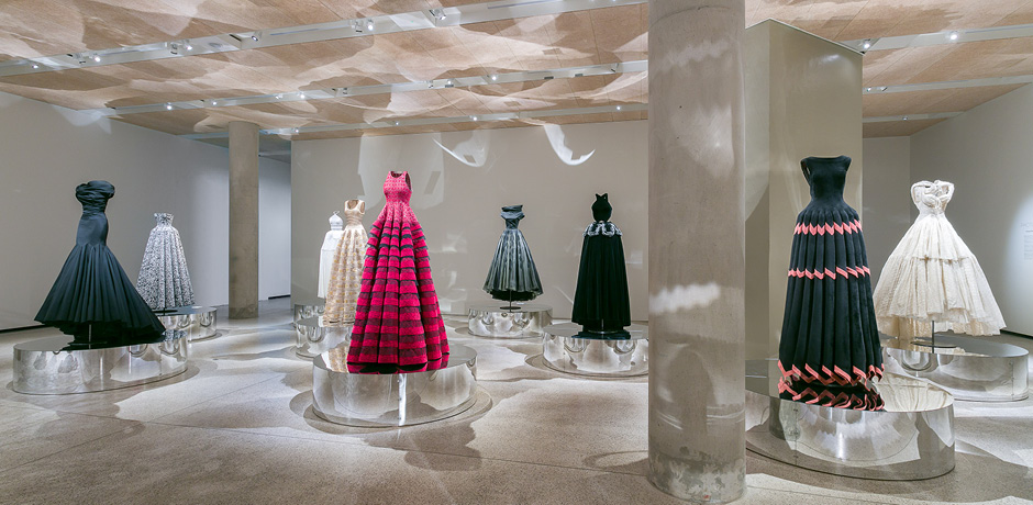 A display of Alaïa's gowns, selected by the designer himself, at the Design Museum in London. Courtesy Mark Blower.