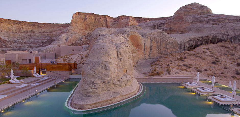 The Amangiri pool is one of the most iconic in Utah. Photo courtesy Aman.