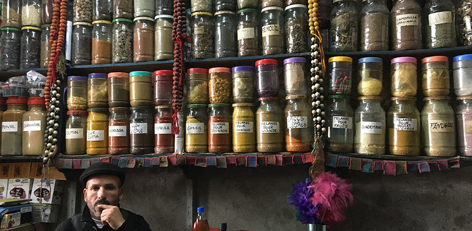 Proprietor of a spice shop, who also serves as an apothecary for locals
