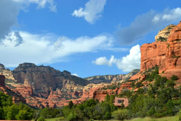 View of the mountains at Mii amo, Sedona, Arizona
