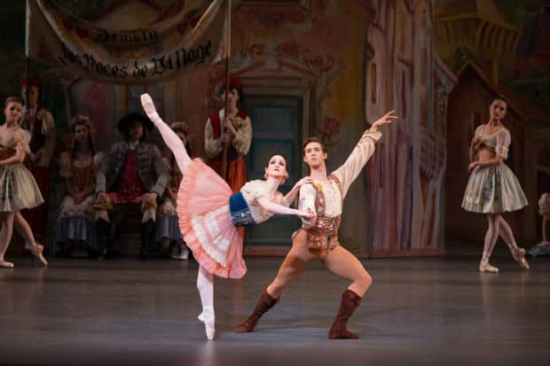 Ashley Bouder and Joseph Gordon in George Balanchine's Coppelia, Courtesy Paul Kolnik