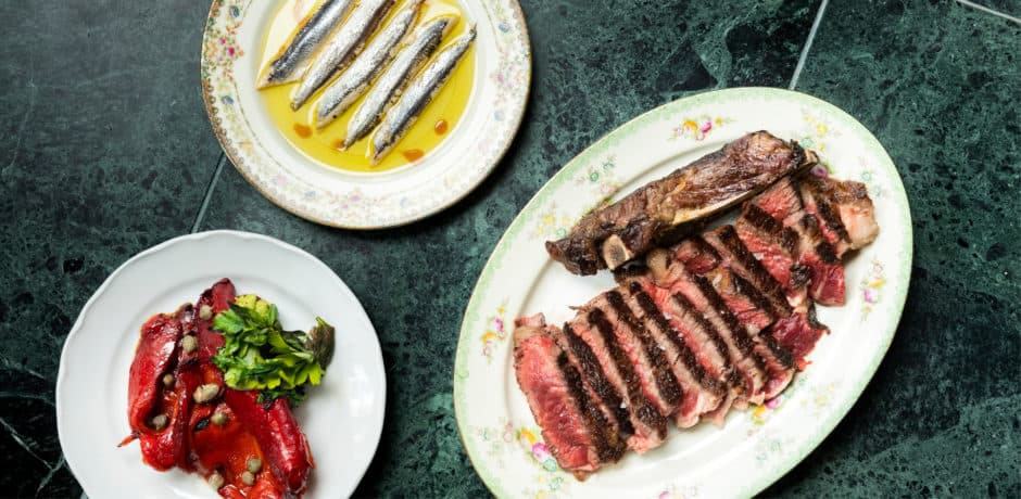 The cuisine at Babs, which is focused on charcoal-grilled meats, fish and vegetables, is heavily influenced by the Spanish Basque Country. Photo by Evan Sung.