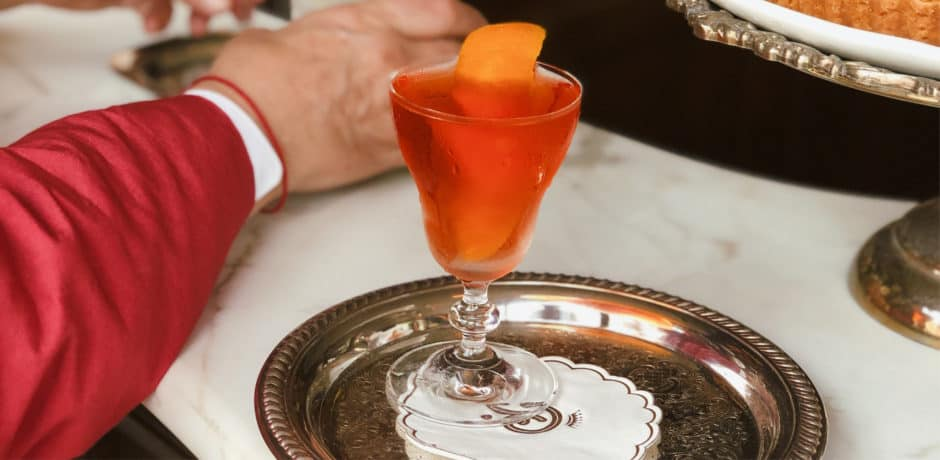 A late afternoon pick-me-up, courtesy of Campari, at the new Bar Pisellino in Manhattan. Photo courtesy of Bar Pisellino.