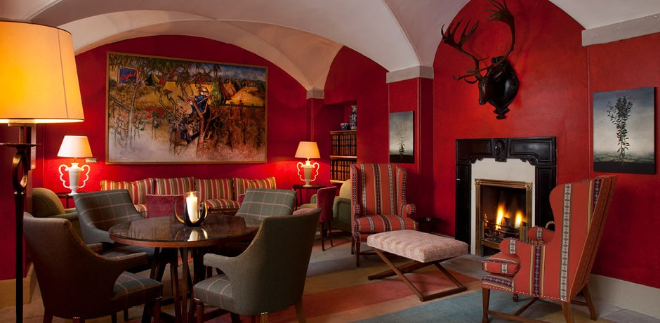 The cellar bar at Ballyfin is a cozy hideaway offering modern décor and casual eating. Courtesy Ballyfin.