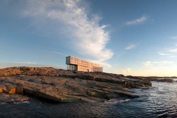 The solo traveler looking to disconnect can escape to natural serenity and pampering amenities at Fogo Island. Photo by Alex Fradkin
