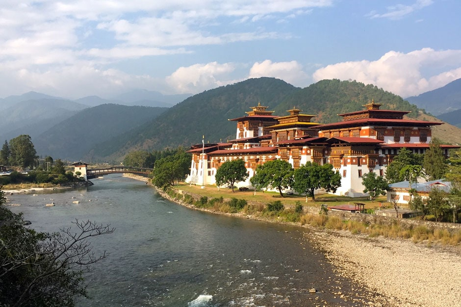 The famed Punakha Dzong temple in Bhutan. Courtesy Indagare.