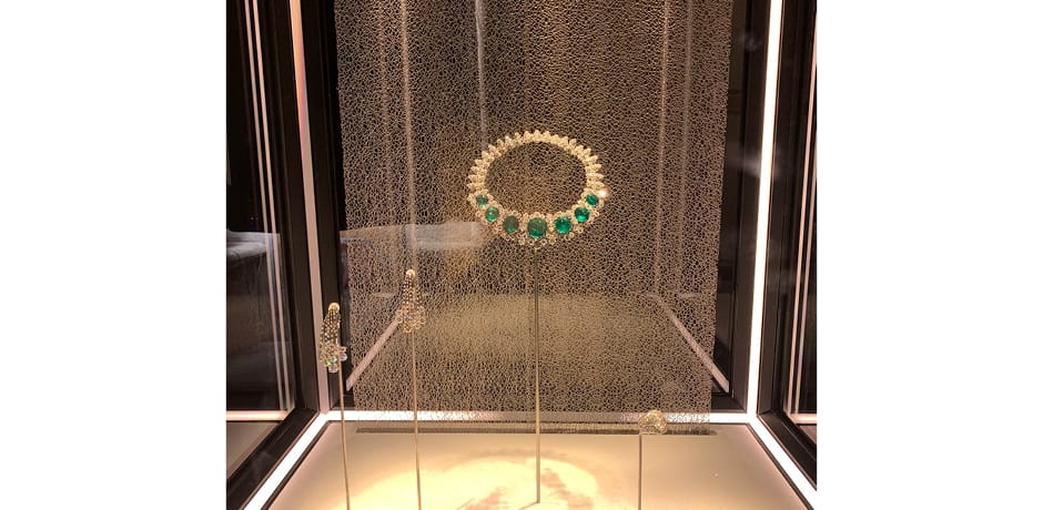 Jewels, including some worn by Elizabeth Taylor, Sophia Loren and Audrey Hepburn, at the Bvlgari exhibit at the Museo Nazionale di Castel Sant'Angelo, which our group enjoyed on a private tour.