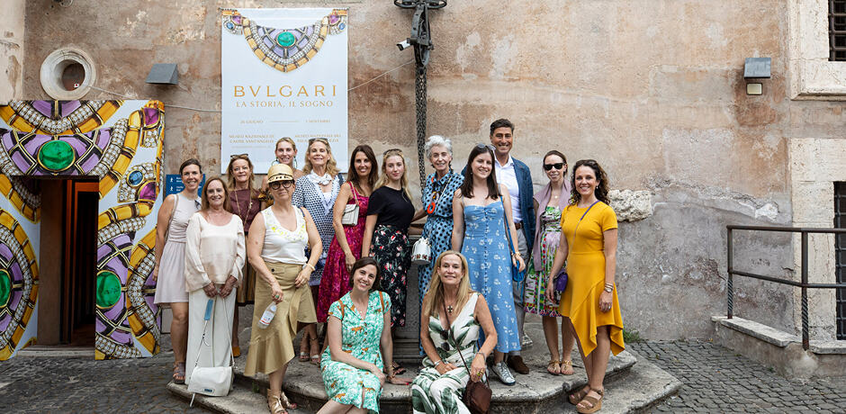 The new Bvlgari exhibit at the Museo Nazionale di Castel Sant'Angelo, which our group enjoyed on a private tour with the brand's Creative Director.