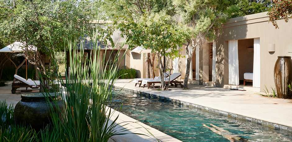 The spa at The Farmstead at Royal Malewane, South Africa. Courtesy the Royal Portfolio.