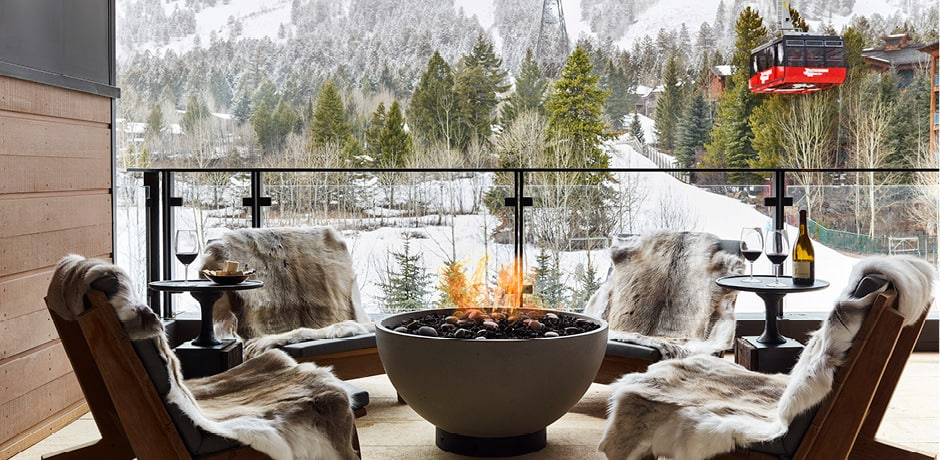 Views at Caldera House, Jackson Hole. Courtesy Caldera House