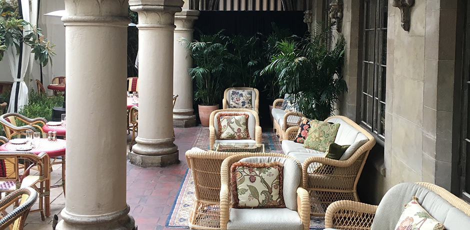 A nice spot to lounge at Chateau Marmont