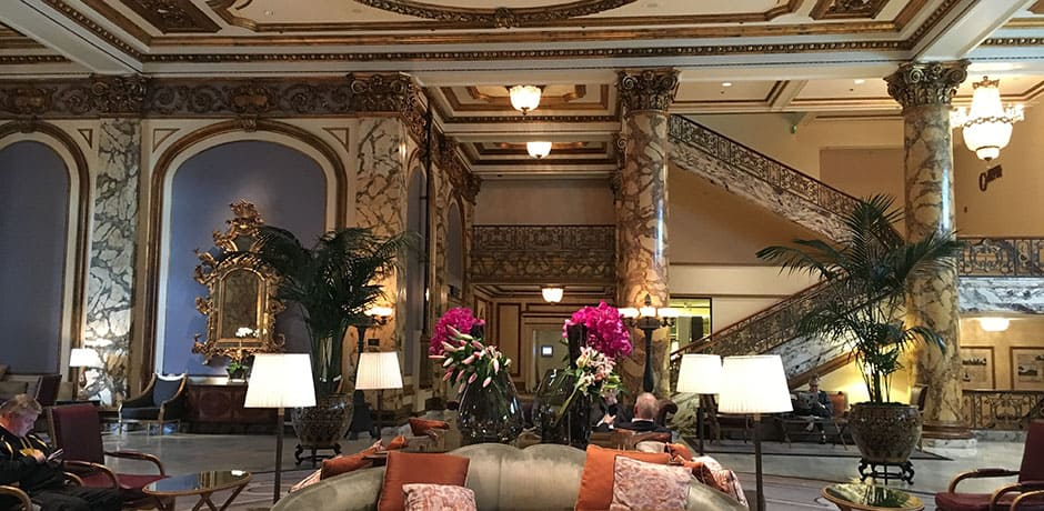 The lobby of the Fairmont San Francisco