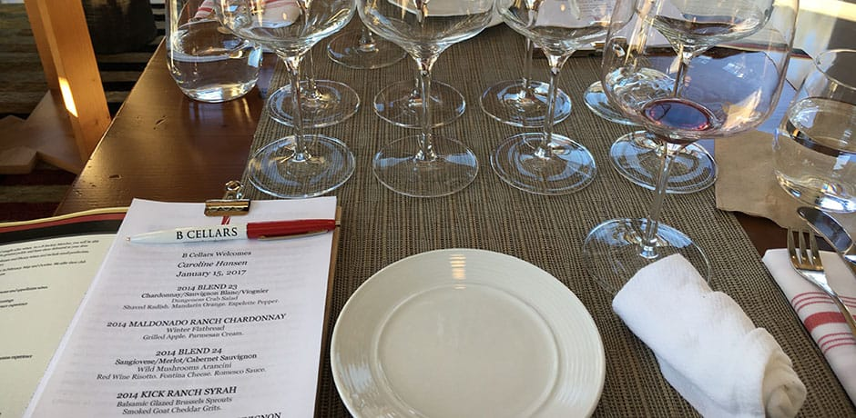 Tasting at B Cellars Winery