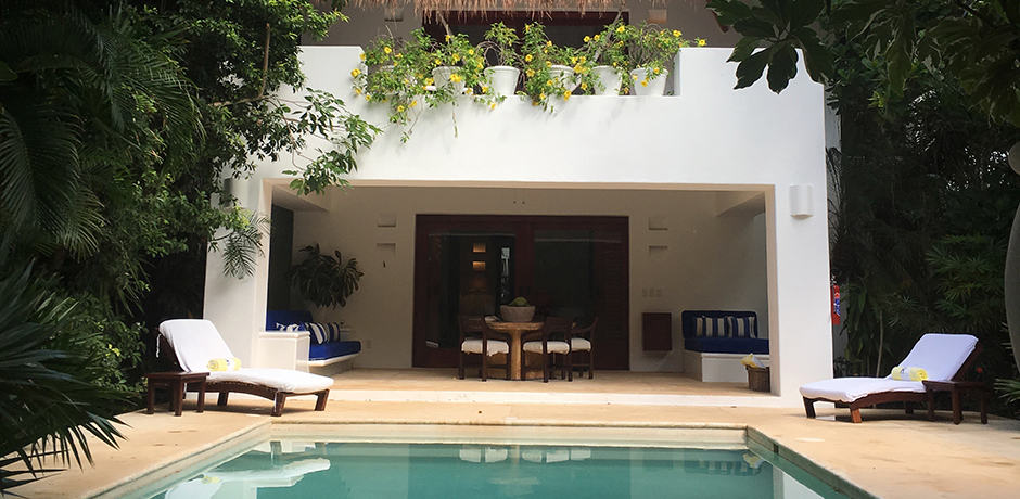 Hotel Esencia's two-bedroom pool villa, perfect for families.