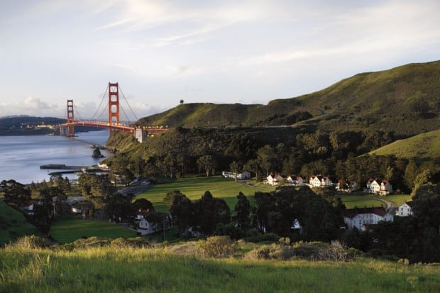 Aerial View - Cavallo Point, San Francisco, California