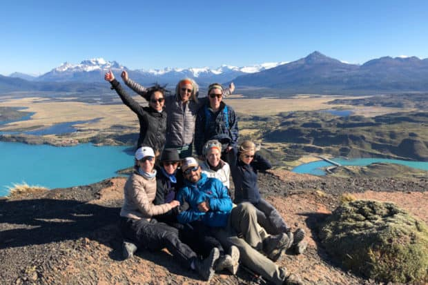 Trip attendees on the 2019 Hiking in Chilean Patagonia journey