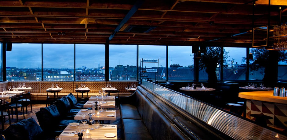 Visitors can find city views and incredible pizza at the bar at Sophie's. Courtesy Sophie's (sophies.ie).