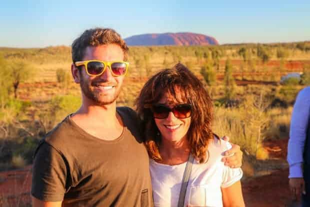 Colin and his mom in Australia