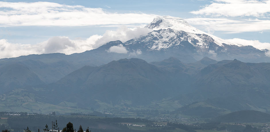 The Cotacachi volcano is one of the only places in Ecuador with snow year-round.