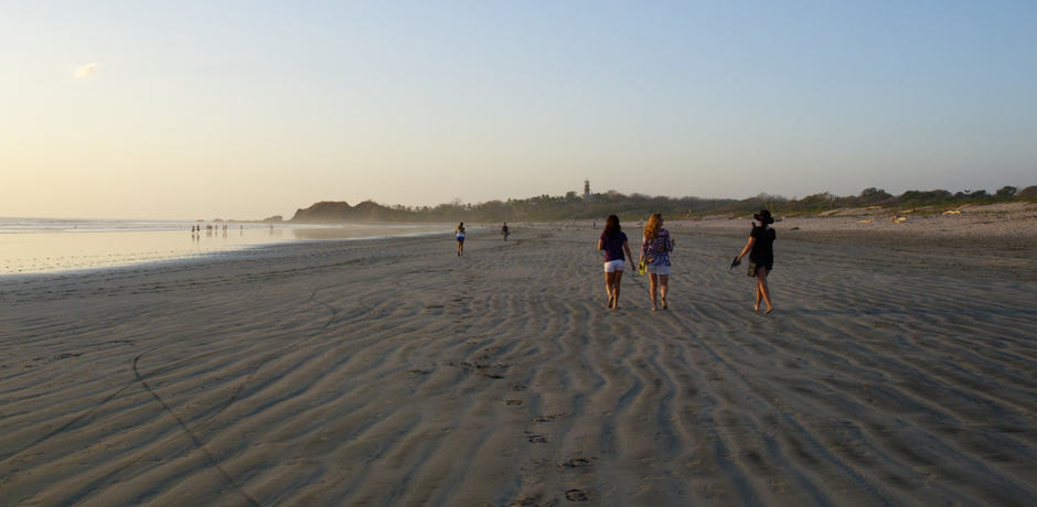 Late afternoon on Playa Guiones in Nosara, Costa Rica.