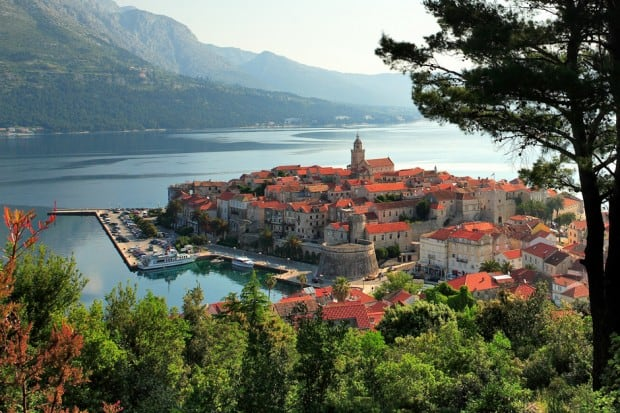 korcula and peljesac in Croatia