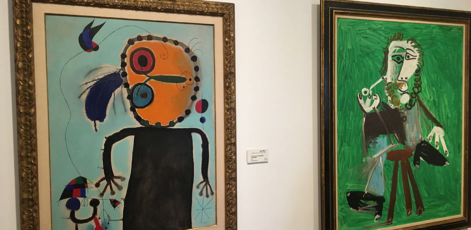 The works of Miro and Picasso, two of Botero's inspirations, hang at the Botero museum