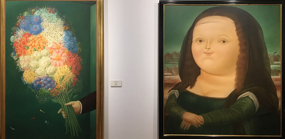 Fernando Botero's rendering of the 15th-century masterpiece, Mona Lisa