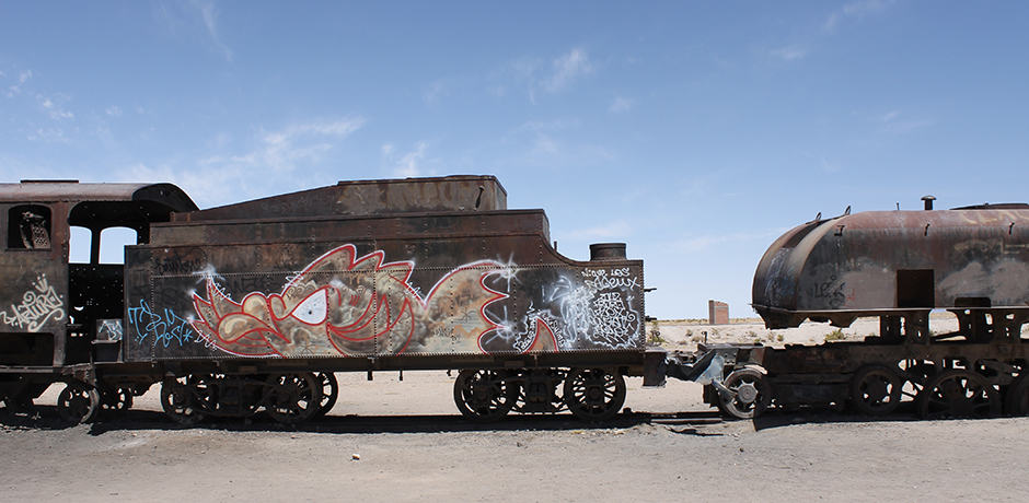 The train graveyard of Salar de Uyuni
