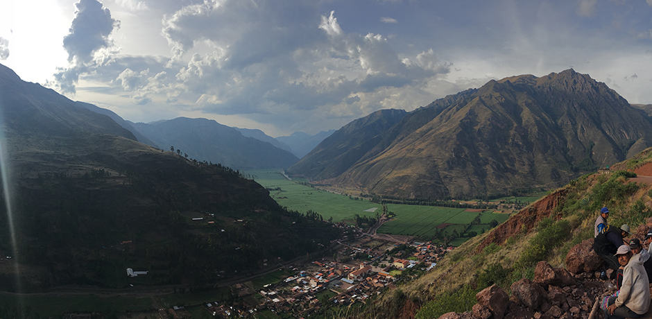 First glimpse of the Sacred Valley