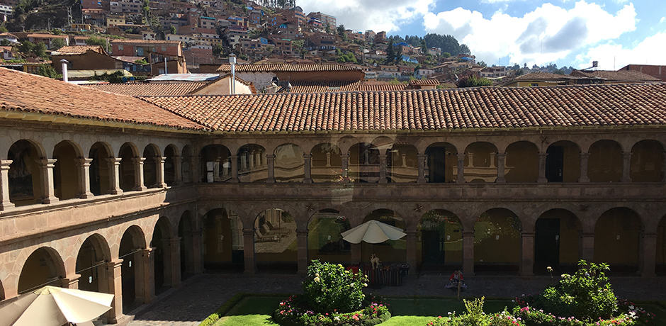 View from the courtyard from Belmond Hotel Monasterio