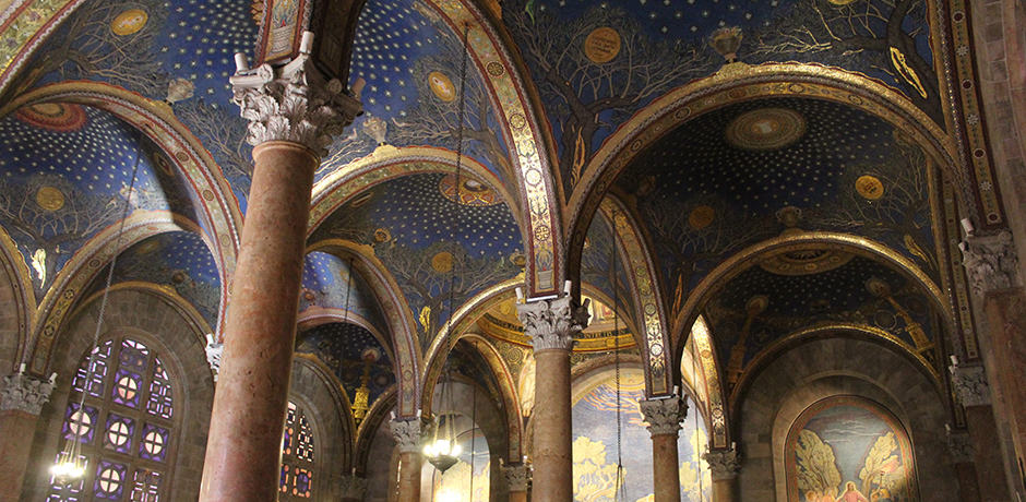 The Church of All Nations, Mount of Olives, has gorgeous Byzantine architecture