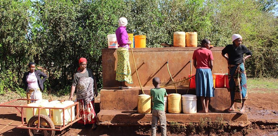 Collecting water in the hills outside Karatu