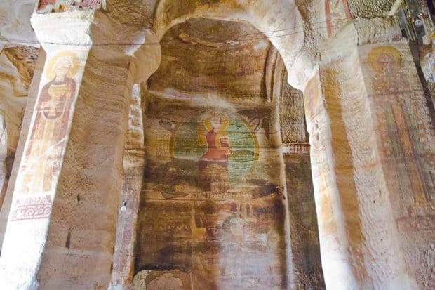 Frescoes at Daniel Korkor church in Gheralta