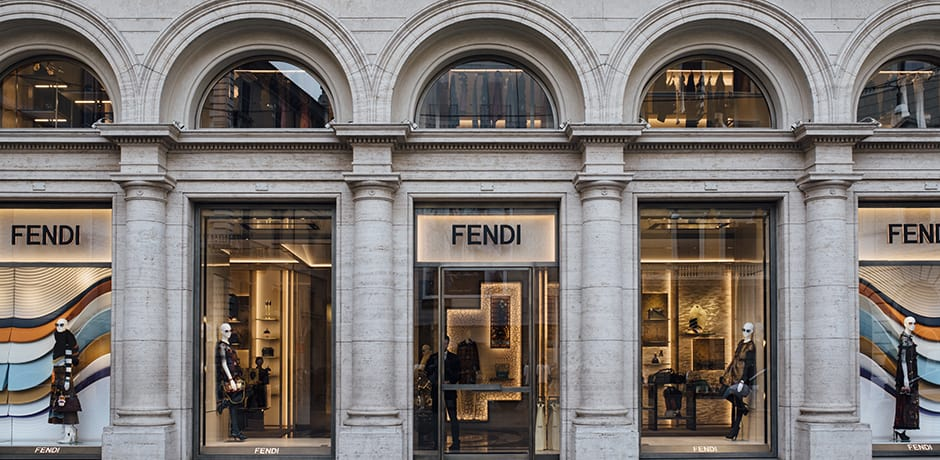 The Fendi flagship in the Fendi Palazzo