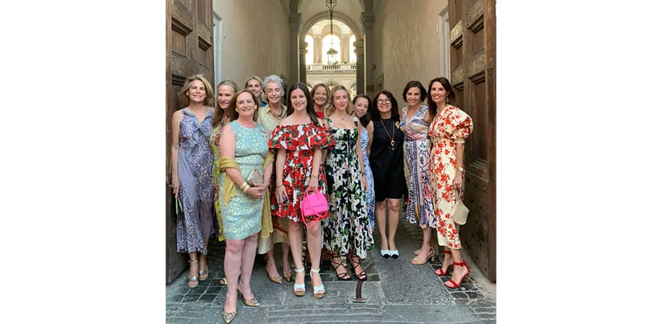 Our stylish group dressed up for a farewell dinner hosted at Rome's most renowned and historic private club.