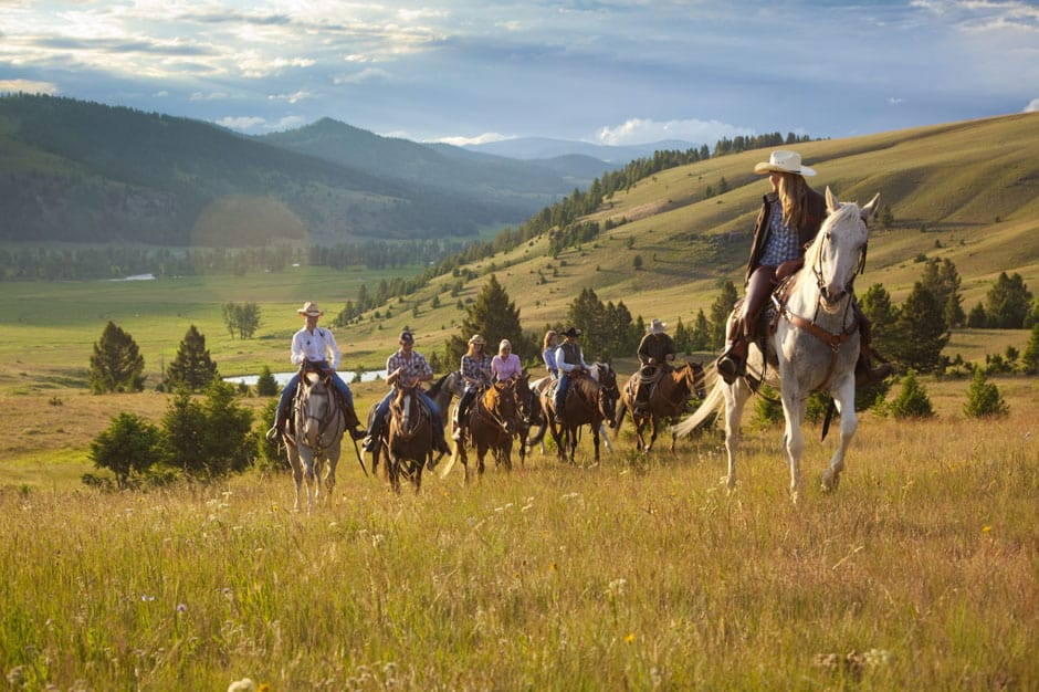 Horse Riding at Ranch at Rock Creek, American West