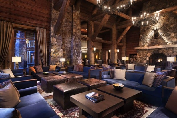 The lobby at the Ritz-Carlton Bachelor Gulch