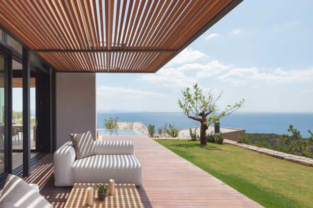 A terrace at the Six Senses Kaplankaya in Bodrum