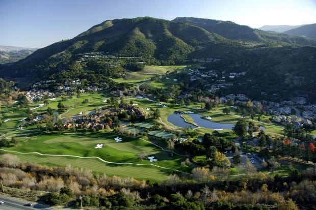 Aerial view of Carmel Valley Ranch