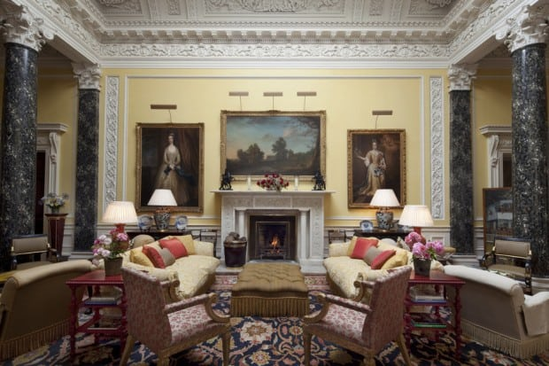 The sitting room in the main building. Courtesy Ballyfin.