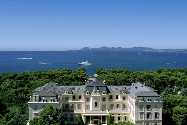 Aerial view of Hotel du Cap-Eden-Roc, French Riviera, France