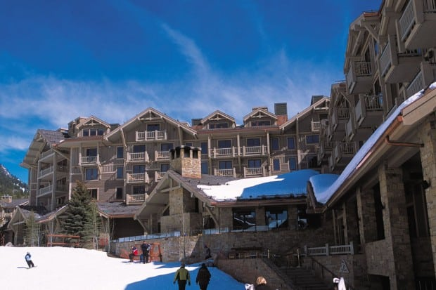 The façade of the Four Seasons Jackson Hole