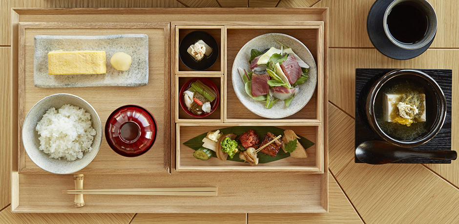 A traditional meal at Japan's Amanemu